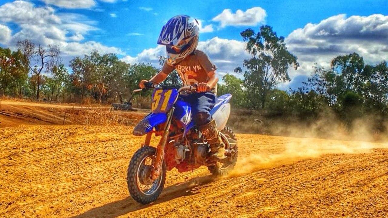 Lachlan Saxby, 9, enjoying the motocross track.
