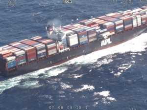 Ship off North Coast assessed after containers lost