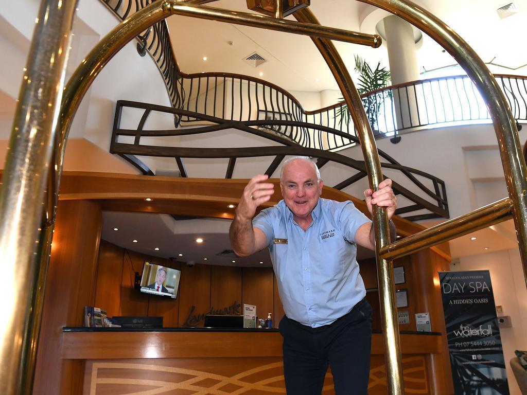 Landmark Resort general manager Brett Thompson wants visitors back as soon as possible.