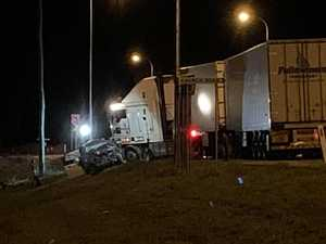 Woman, 20, killed in Bruce Highway truck and car collision