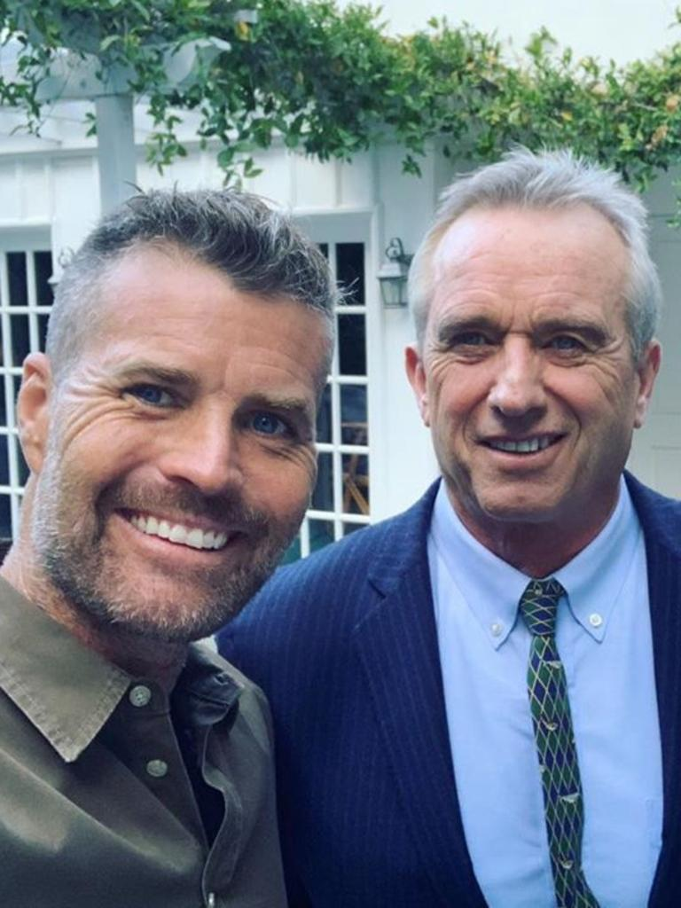 Pete Evans with prominent anti-vaxxer Robert F. Kennedy Jr, who has spoken on the dangers of vaccination and helped finance anti-vax groups. Picture: Instagram