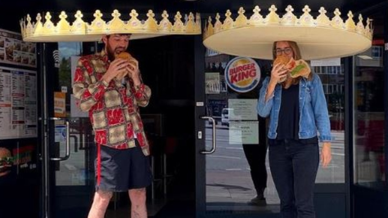 Burger King has come up with a fun social distancing solution. Picture: Twitter/@BurgerKing