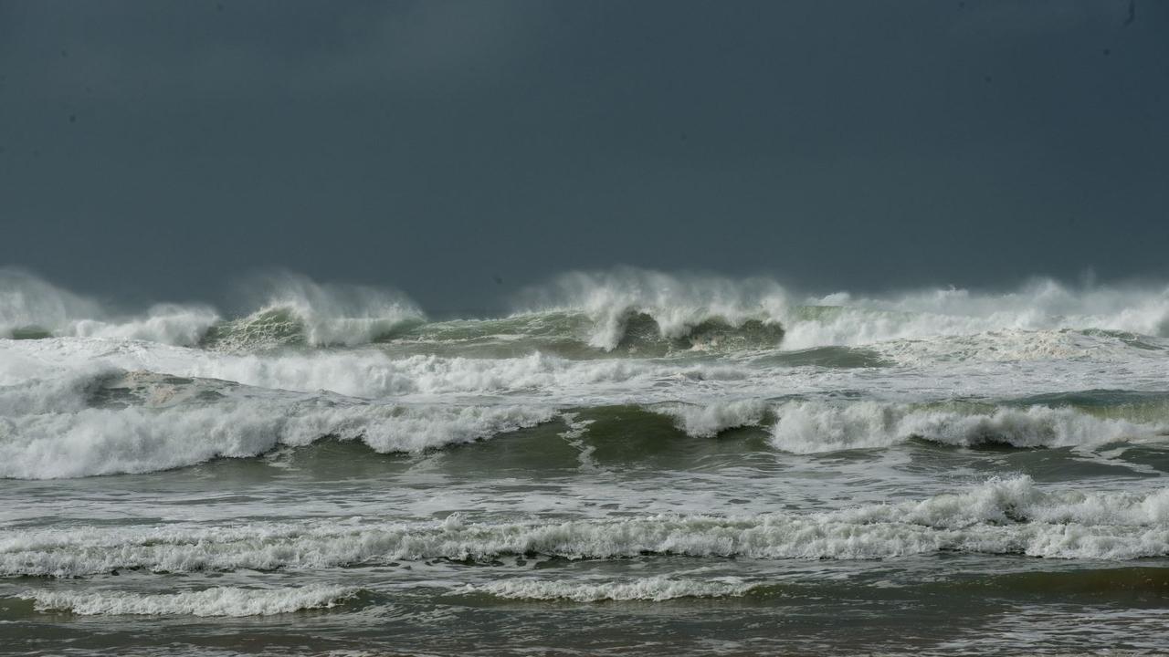 Lifeguards make the call to close beach.
