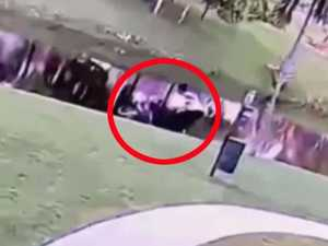Moment mum 'pushed' son into canal