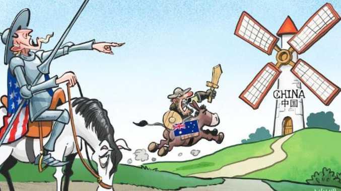 Chinese cartoon ridicules Australia