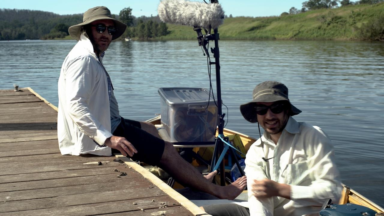 GONE FISHING: Sam Davis (left) and Spencer Austad (right) run Big Spin Productions which debuted their first slow tv live-stream recently, TV's newest craze. (Credit: contributed)