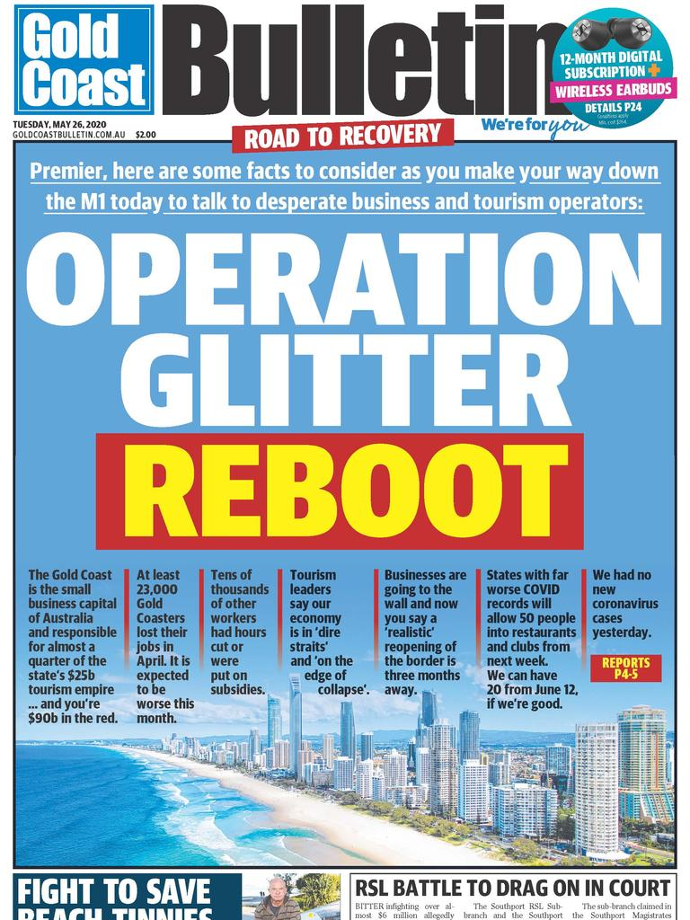 Today's Gold Coast Bulletin.