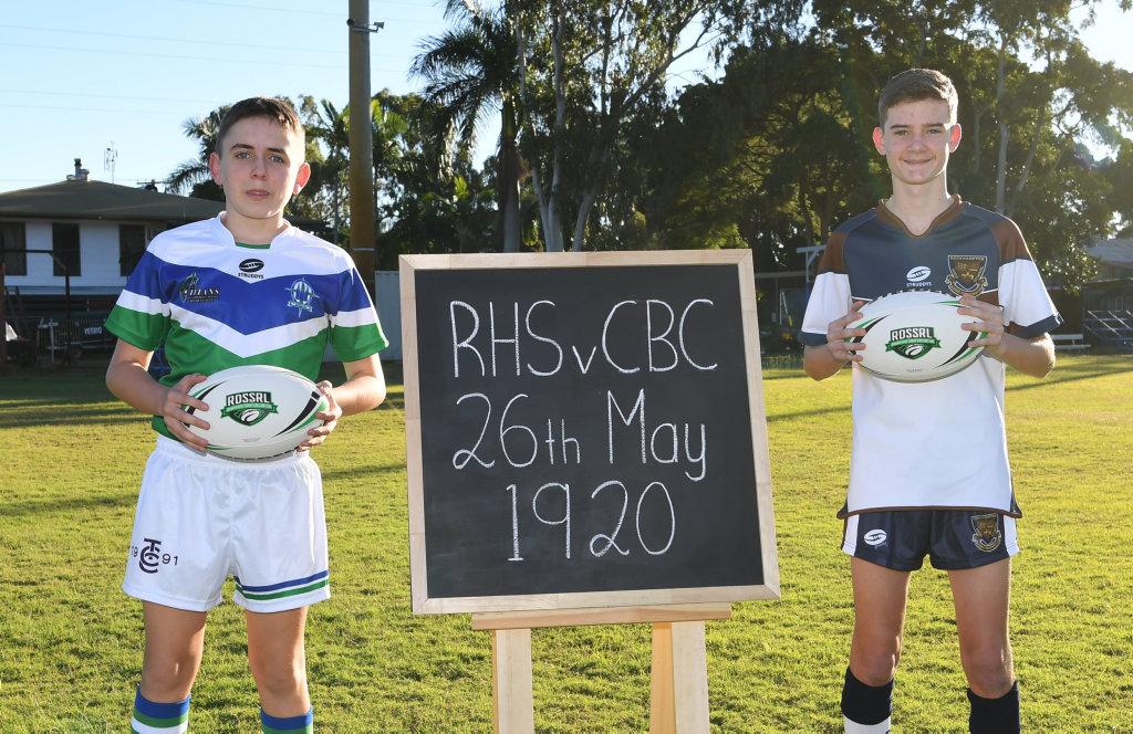 Image for sale: TCC's Patrick Dever and RHS's Toby Milner.
