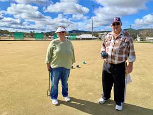 Stanthorpe Bowls Club president David Rose with wife