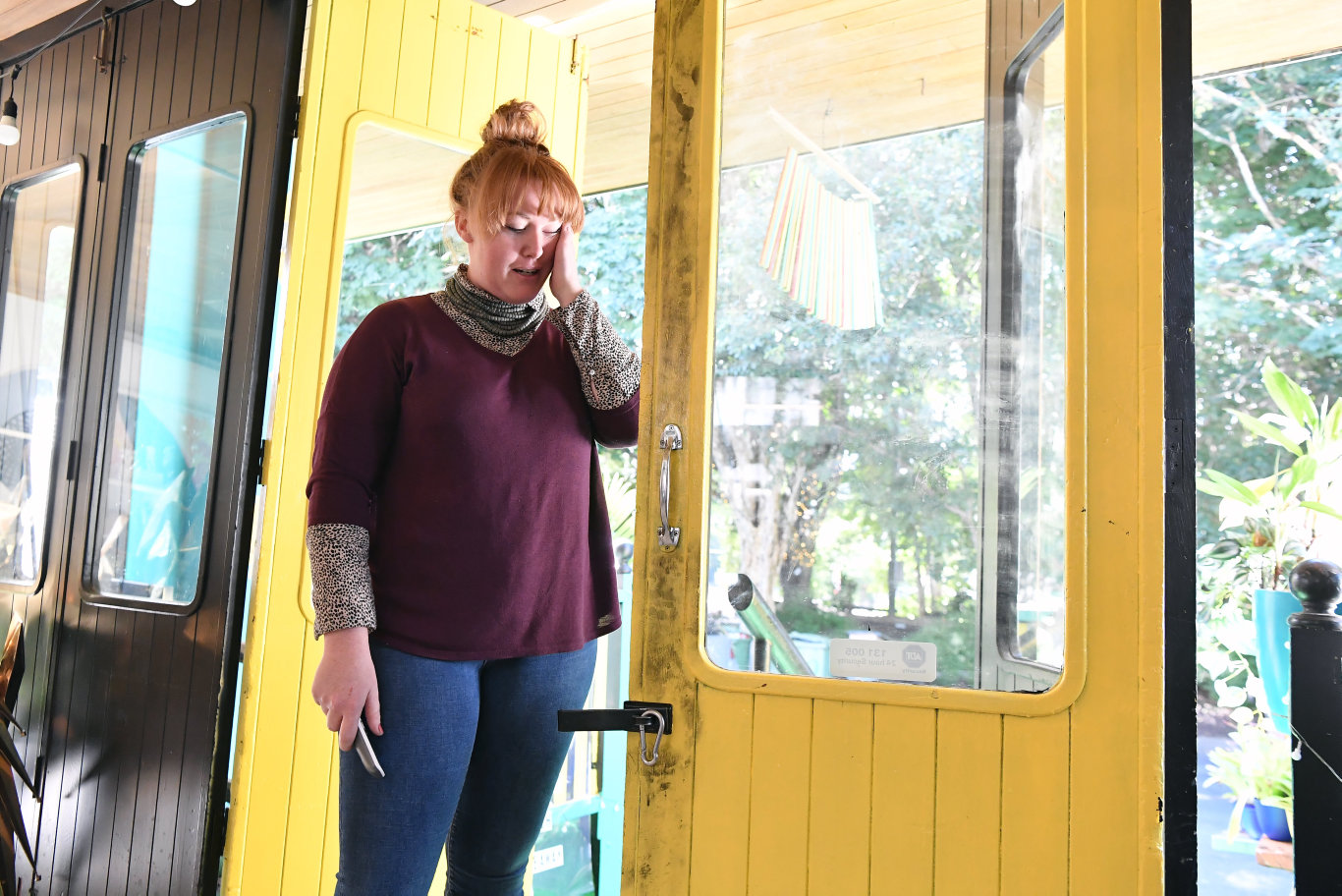 Katie Johnston said there was tears as she realised the impact of a break-in at her restaurant.