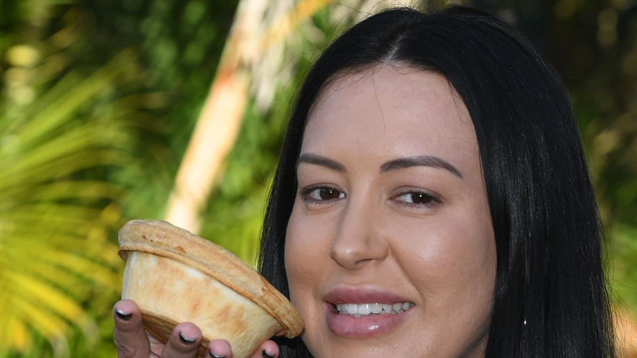Jessica Watkins enjoying a delicious pie from Needful Things – Picture: Shane Zahner