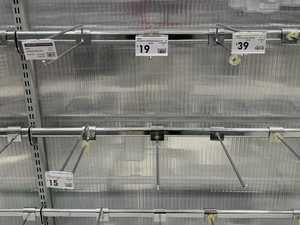 Major stores struggle to stock empty shelves