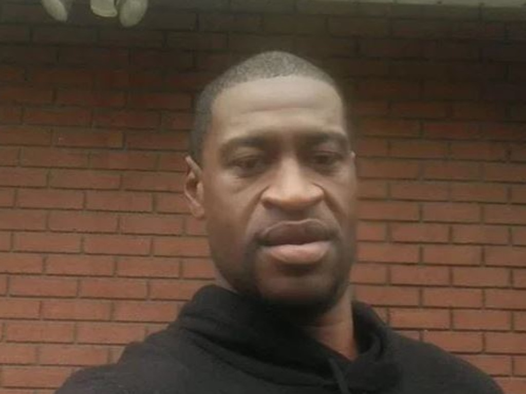George Floyd, who died after a police officer in Minneapolis held him down on the street with his knee in the back of his neck. Picture: Supplied