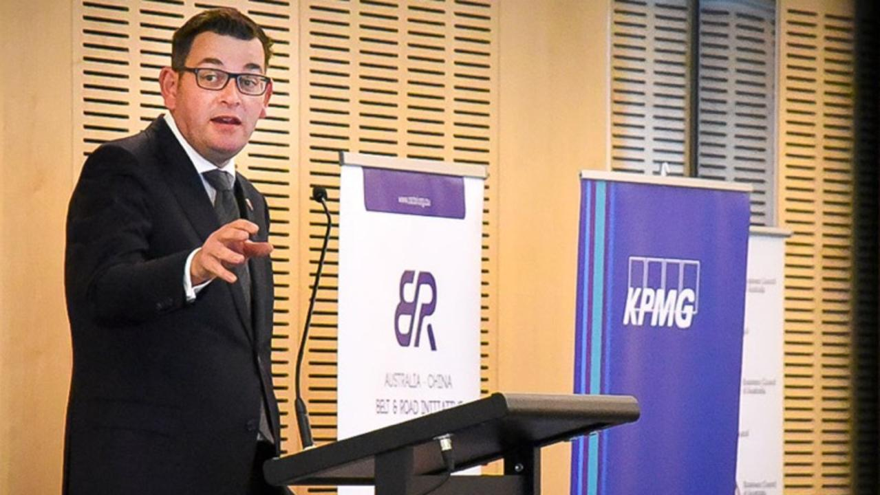 Premier Daniel Andrews attends a KPMG launch event for the Australia China Belt and Road initiative.