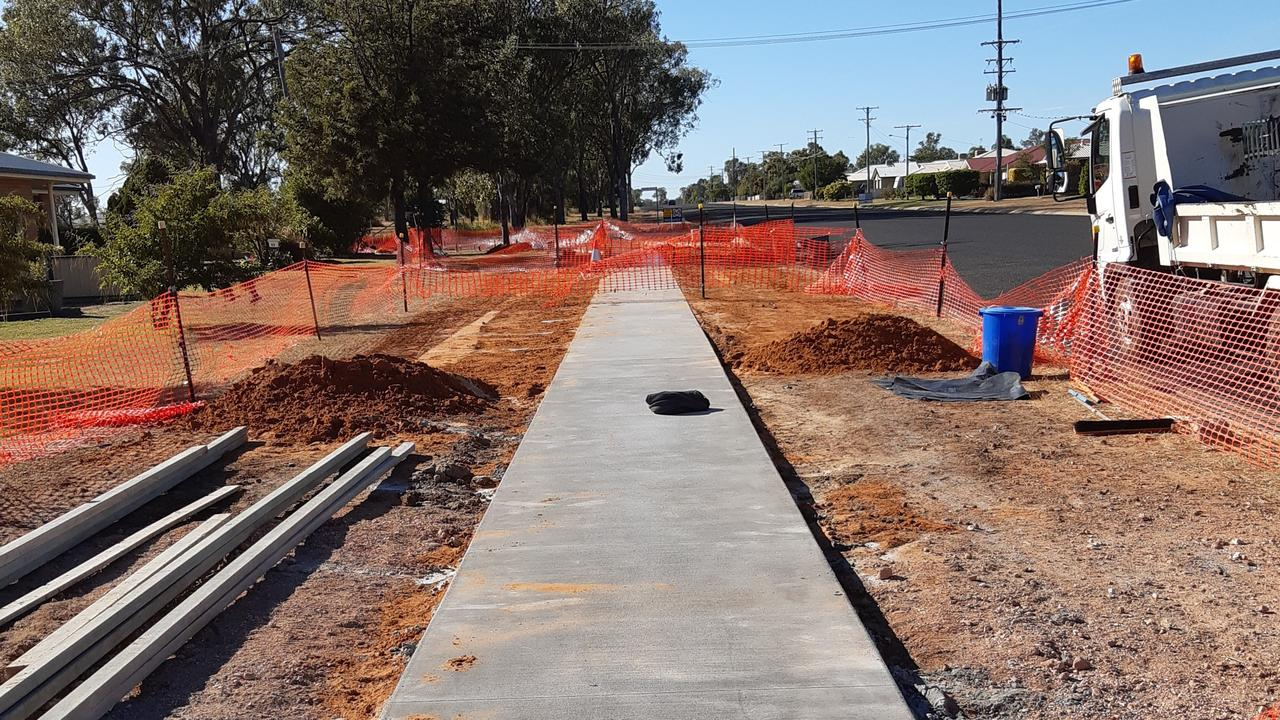 WORKS UNDERWAY: Council has started it pathway on Zeller Street.
