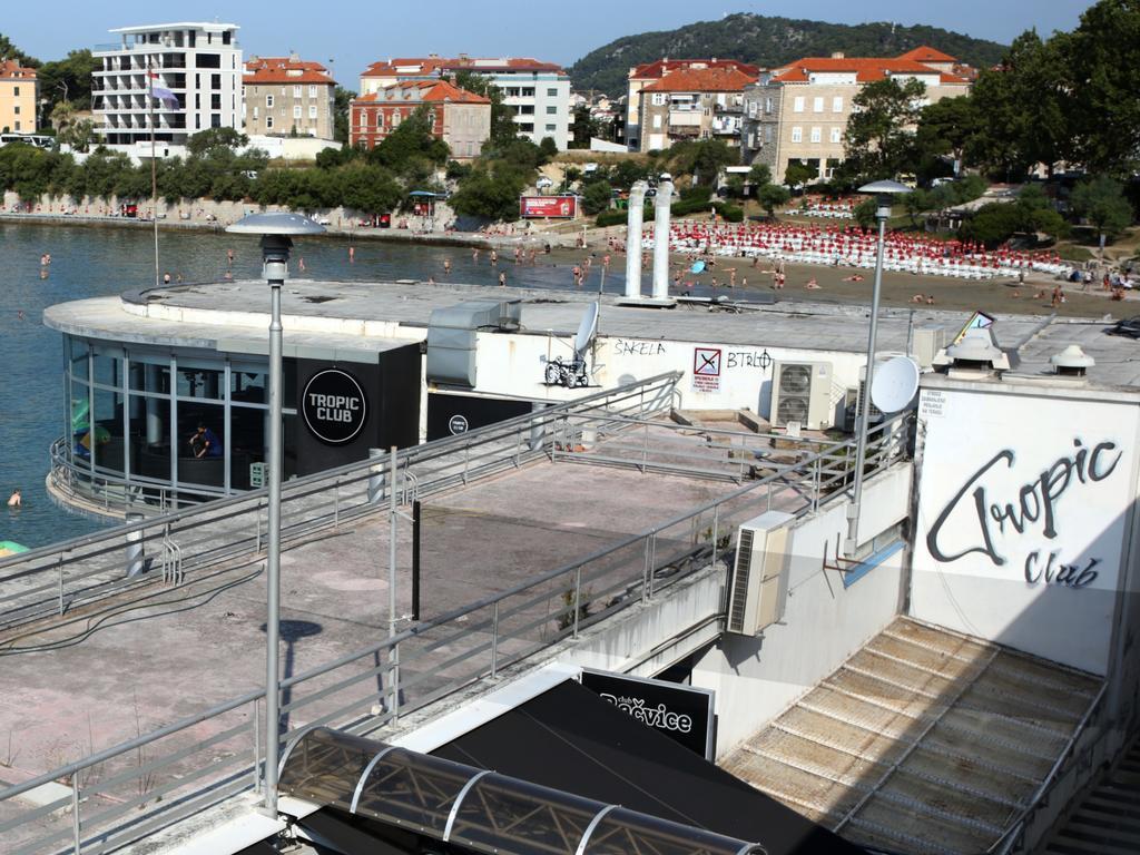 Hrvoje Sabic, accused of stabbing four people in the Tropic Nightclub in Split, in court in Croatia on Tuesday May 26.