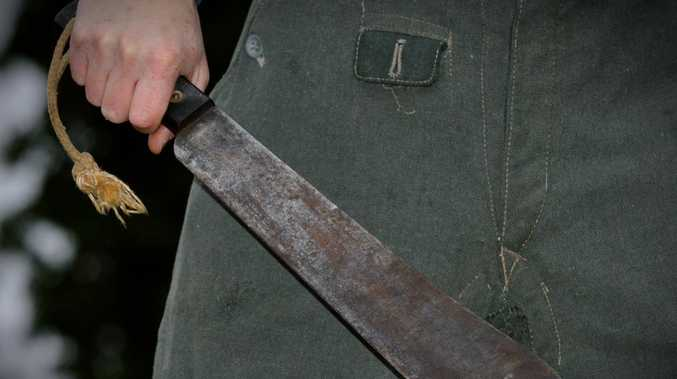 Qld suburb left in terror after machete man seen in streets