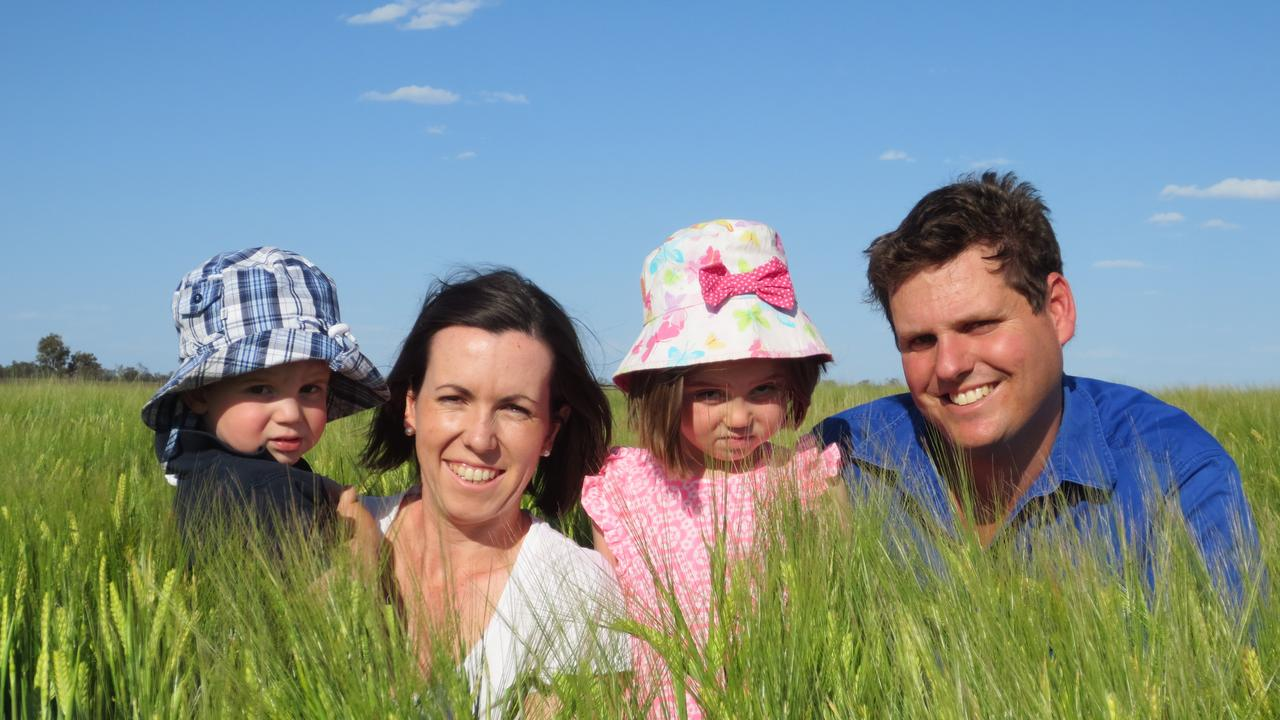 NEW HOPE: Nigel Corish with wife Vanessa and their children Harriett, 4, and William, 2. Ask A Farmer