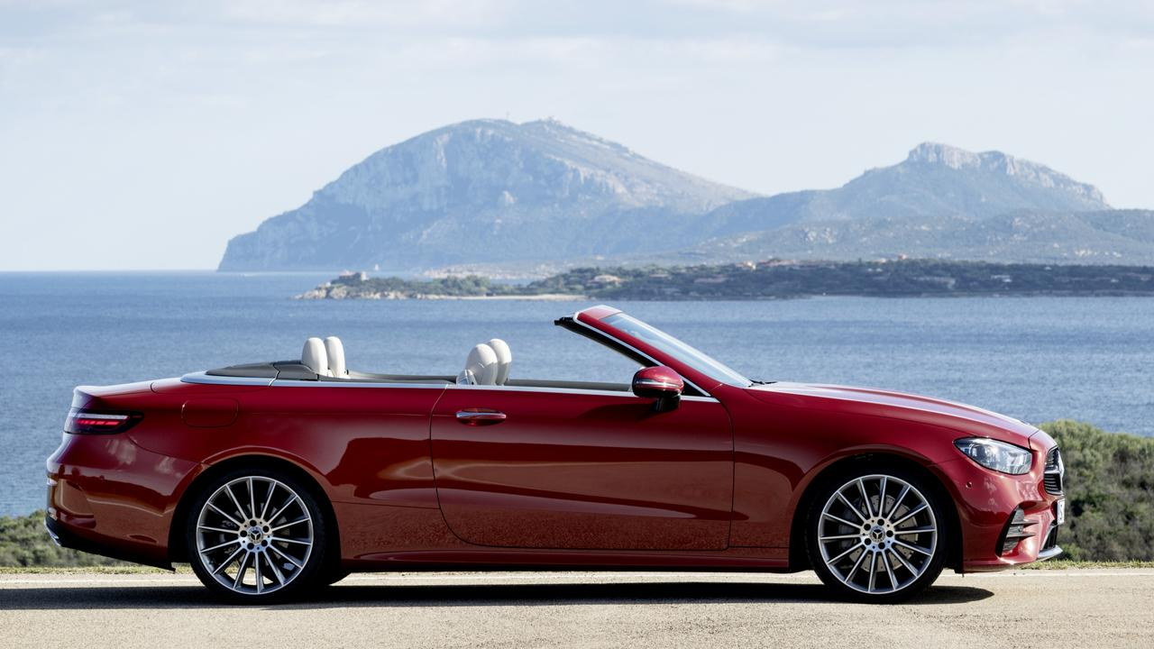 The convertible can also be fitted with a neck heater for winter drop-top blasts.