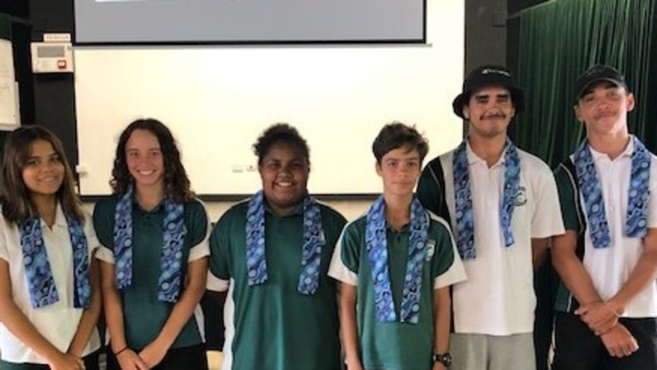 Maclean High School would like to introduce the Lower Clarence Junior AECG executive Committee: from left to right Brianna Roberts, Zhanae Whalley, Latifah Taylor, Noah Shone, Tye Eamens-Gardiner, Brian Quinlan-Randall.