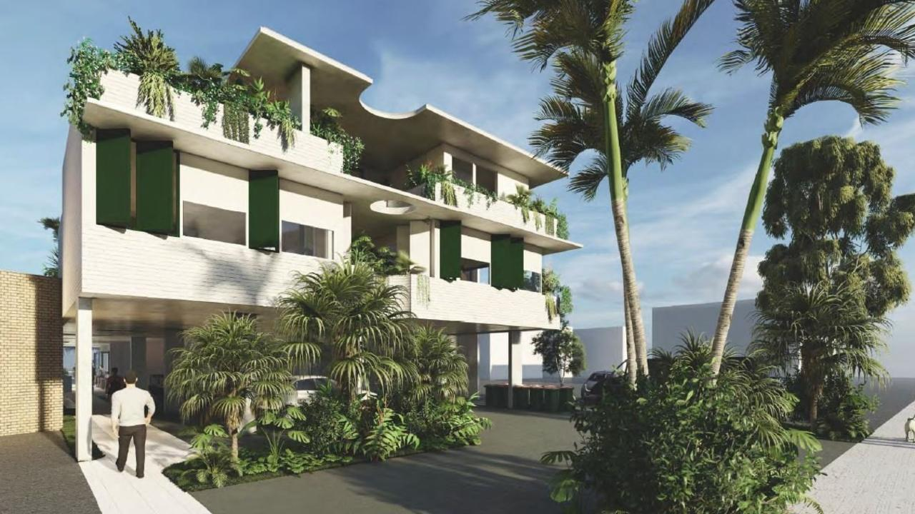 An artist's impression of the proposed new building at 74 Ballina St, Lennox Head.
