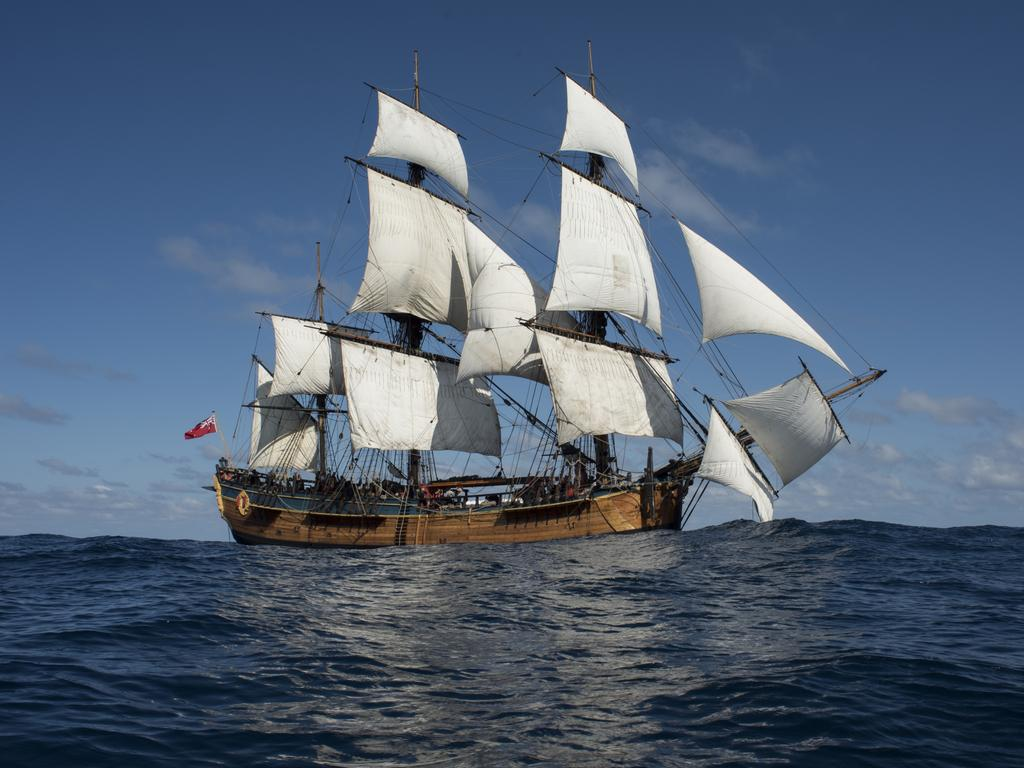 A WORLD AWAY: A replica of the HMB Endeavour. Picture: David Knight.