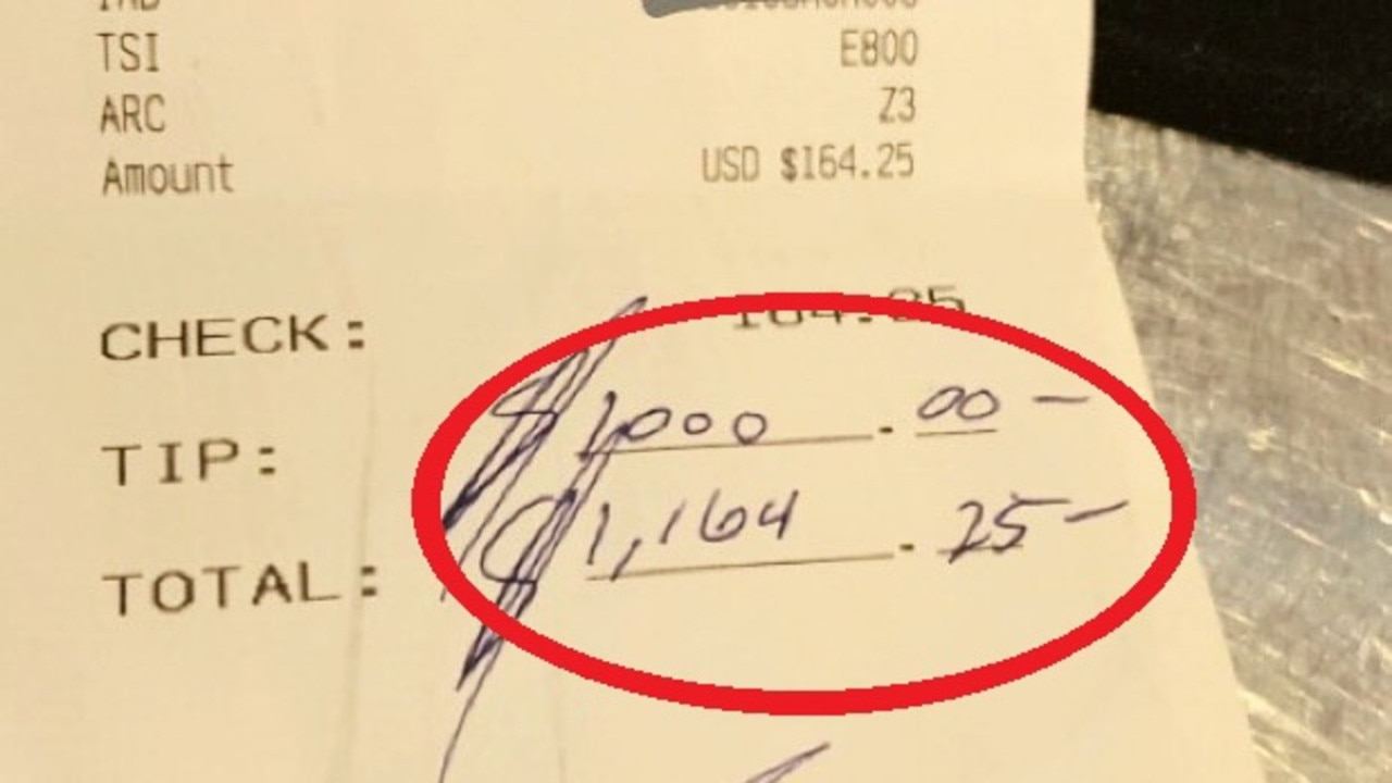 That's one heck of a tip.