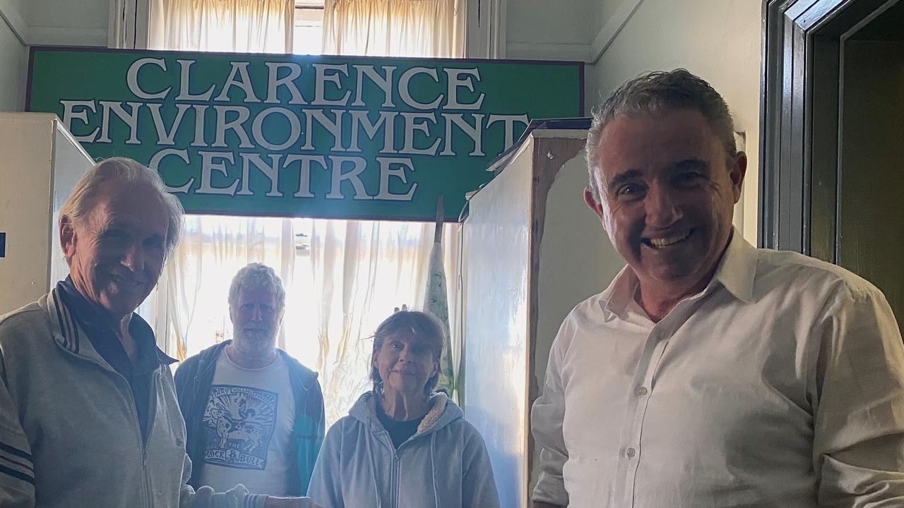 John Edwards, left and Kevin Hogan at the Environment Centre.