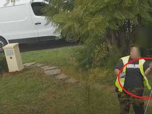 Postie's 'disgraceful' act caught on film