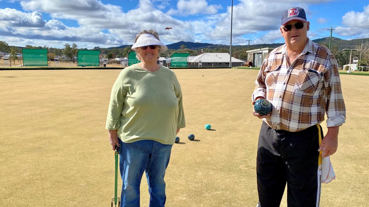 BACK ON: Stanthorpe Bowls Club president David Rose with wife Robyn.