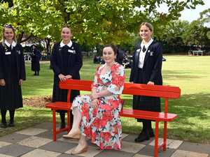 Red Bench at St Ursula's College, From left; Abbie
