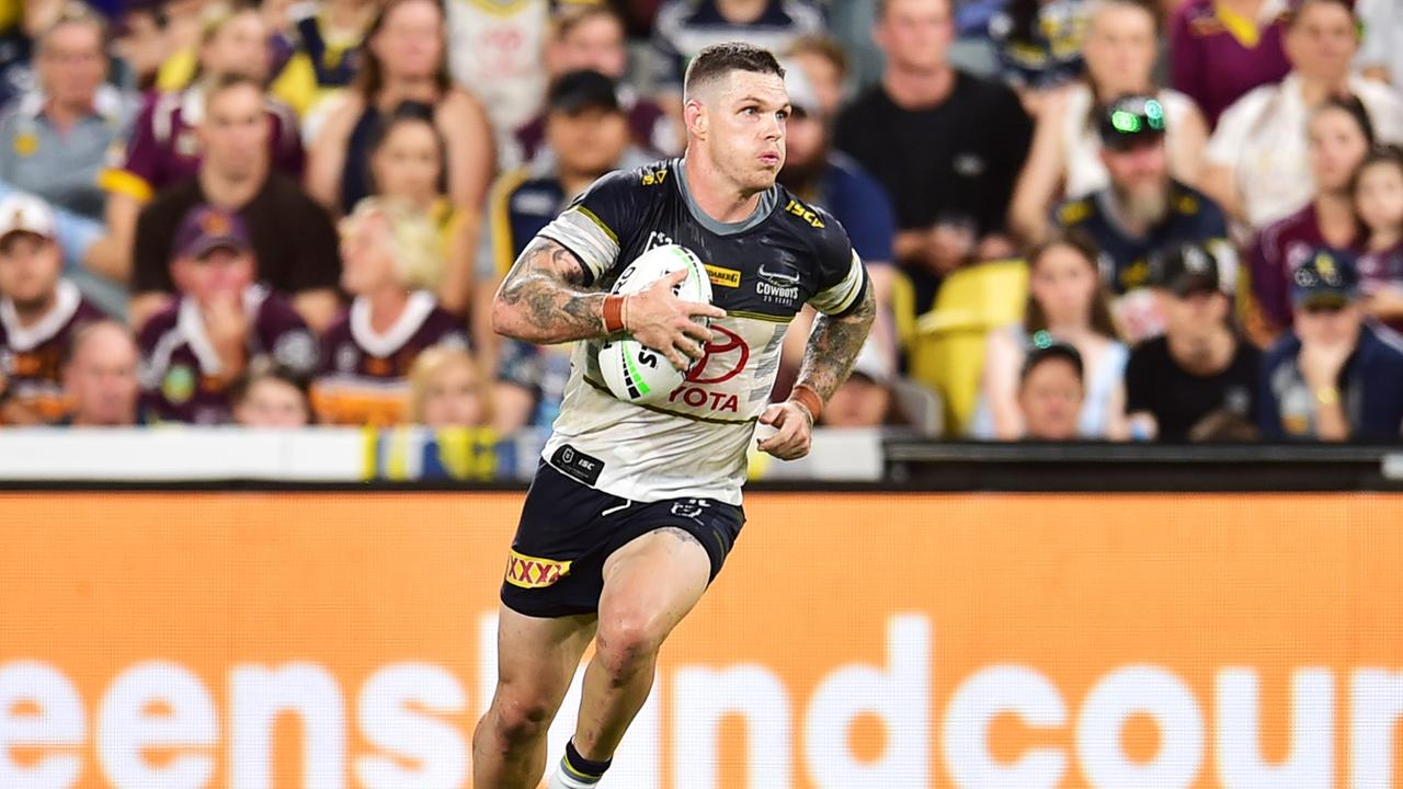 NRL; North Queensland Cowboys v Brisbane Broncos at Queensland Country Bank Stadium. Ben Hampton. Picture: Alix Sweeney
