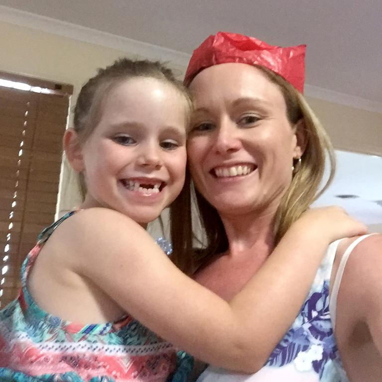 Olivia Douglas with her mother Tegan Mitchell. Picture: Supplied.