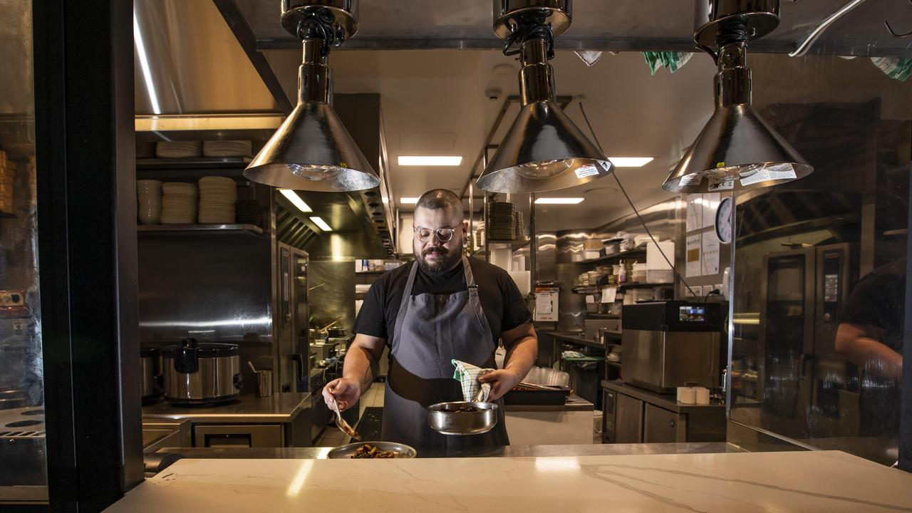 Big flavours: Donna Chang head chef Jason Margaritis. Picture: Mark Cranitch.