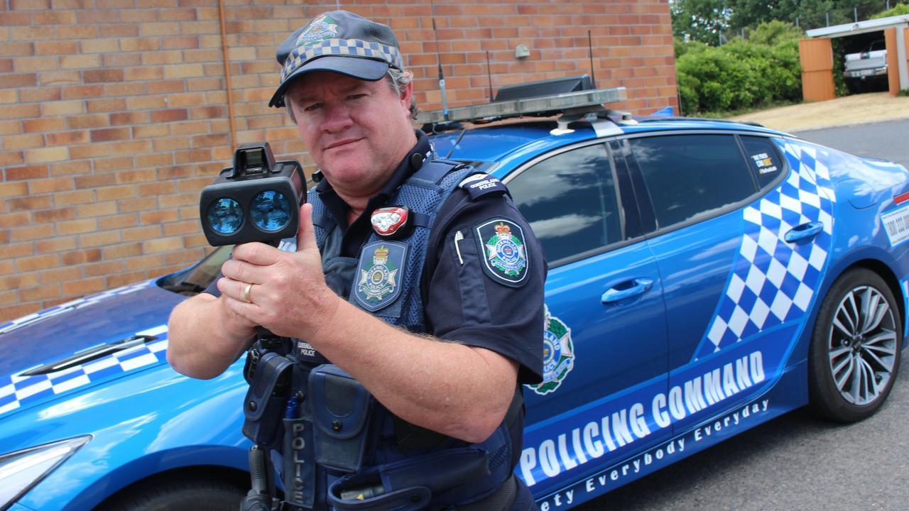 SLOW DOWN: Stanthorpe Police officer Dan O'Dea has urged residents to slow down and concentrate on their driving.