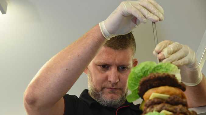 WATCH: 2.8m high burger built for International Burger Day