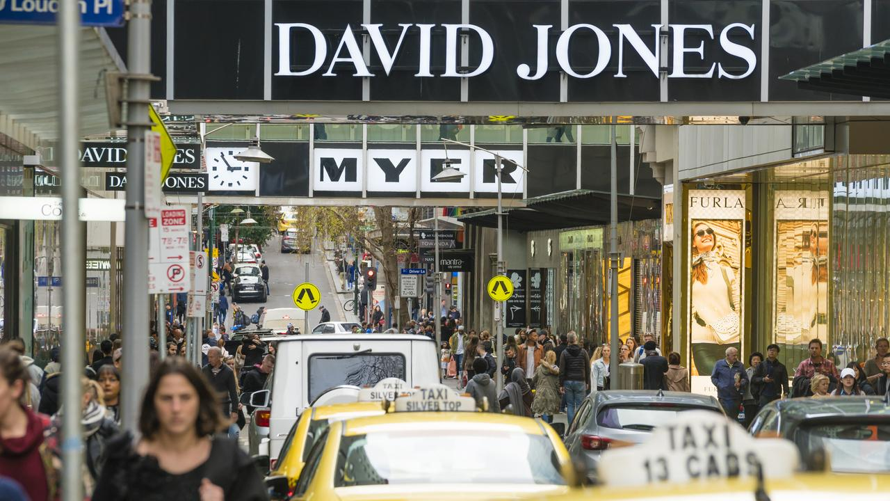 David Jones seems to be accelerating plans to close stores as sales drop. Picture: iStock
