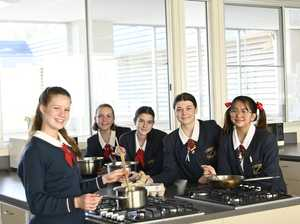 St Saviour's College students cook meals for