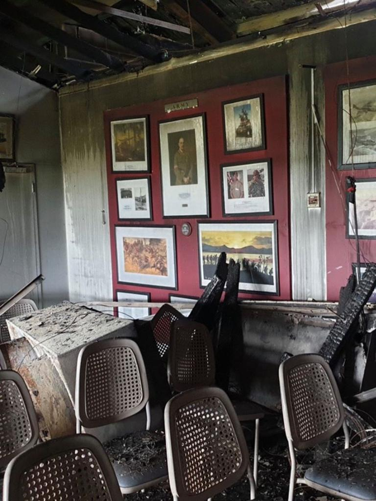 Inside of the Cudgen Leagues Club after the fire earlier this month.