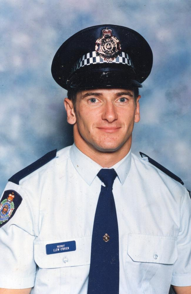 Llew O'Brien was accepted into the Queensland Police Academy in 1999.