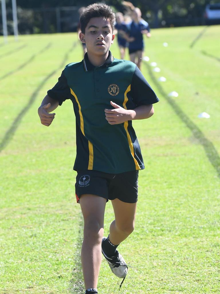 Gympie All Schools Athletics Carnival at Albert Park - James hangad 2nd 1500m 14 boys
