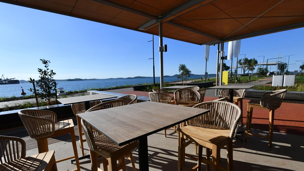 The view from the waterfront cafe Auckland House at GPC's East Shores 1B development.
