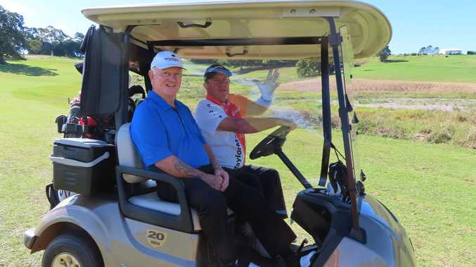 Golfers use 'COVID-safe carts' at Maleny