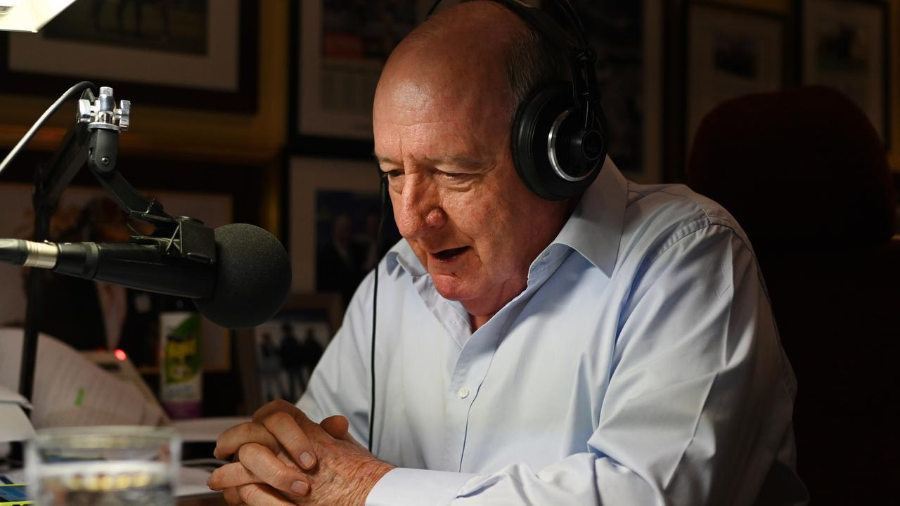 Radio host Alan Jones took aim at coronavirus restrictions during his final breakfast show today, retiring after 35 years on air.