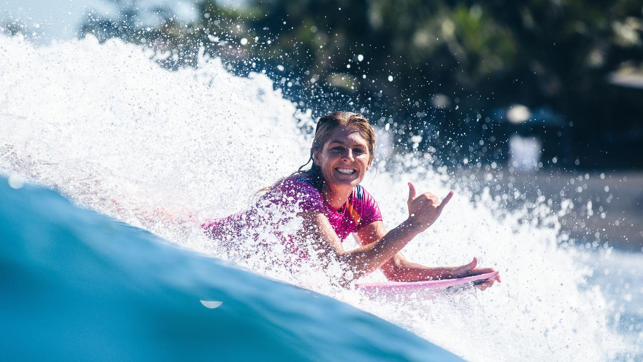 BALI, INDONESIA - MAY 13: Seven-time WSL champion Stephanie Gilmore of Australia advances directly to Round 3 of the 2019 Corona Bali Protected after winning Heat 3 of Round 1 at Keramas on May 13, 2019 in Bali, Indonesia. (Photo by Matt Dunbar/WSL via Getty Images)
