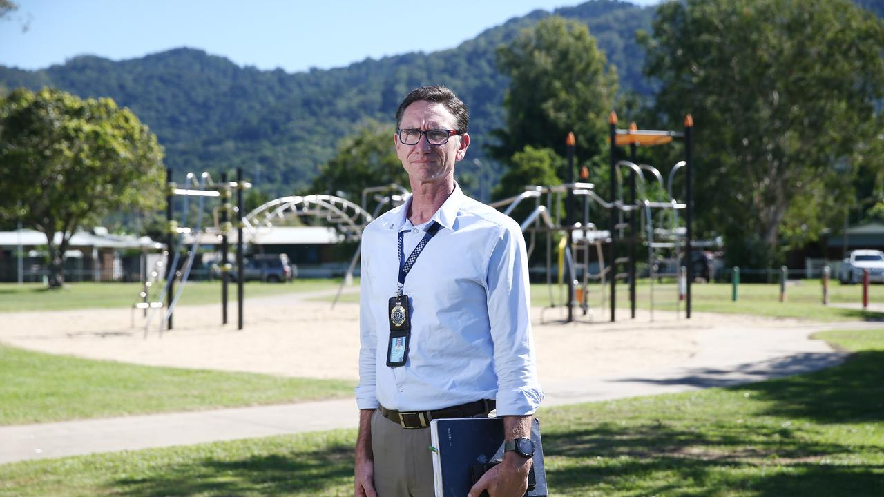 Detective Inspector Jason Smith in Shang Park. PICTURE: BRENDAN RADKE