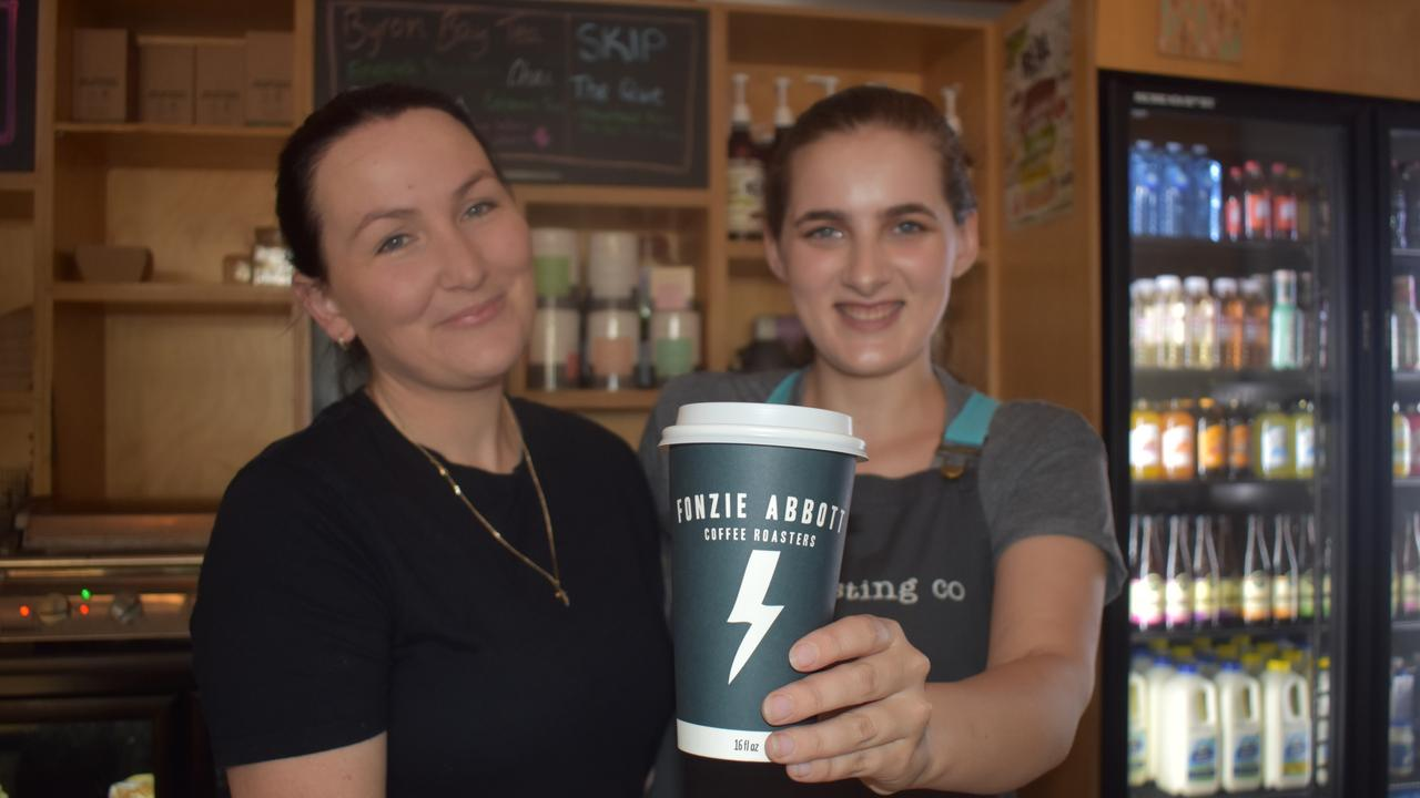 Celeste Mayes and Bryana Lamb-Miller from the Tasting Co are donating $1 from every coffee to Jack's Last Gift for Epilepsy Queensland.