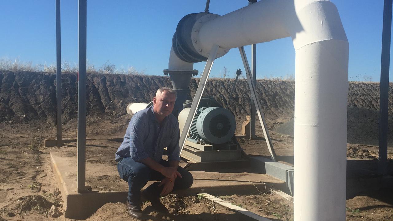 WATER PRICES: Lachlan Millar at an irrigation pump station for the Nogoa Mackenzie water supply scheme.