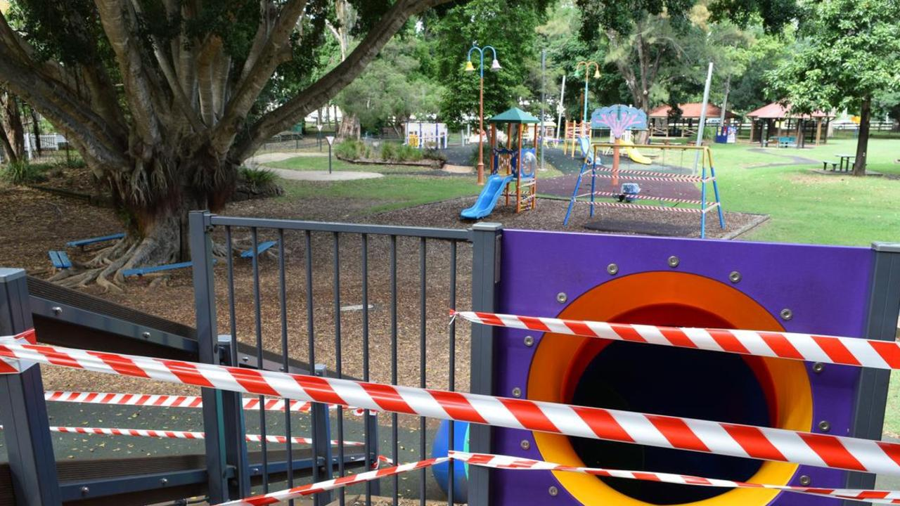 Noosa's main play areas remain closed while the smaller parks are back open including single barbecues.