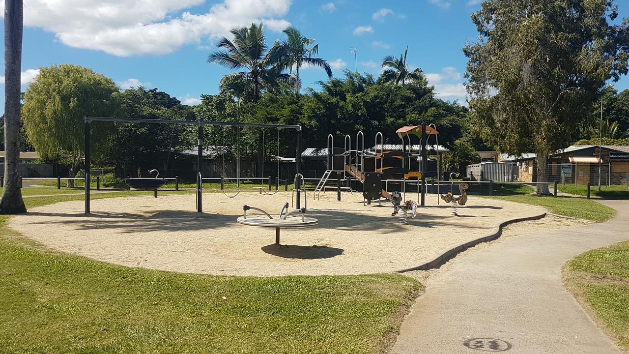 Shang Park in Moooroobool where a 12-year-old boy died overnight. PICTURE: Brendan Radke
